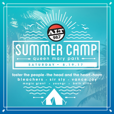Alt 98.7 2017 Summer Camp Los Angeles Queen Mary Park Long Beach Bleachers Beth Ditto Foster the People HAIM The Head and the Heart Vance Joy Magic Giant Sir Sly Youngr