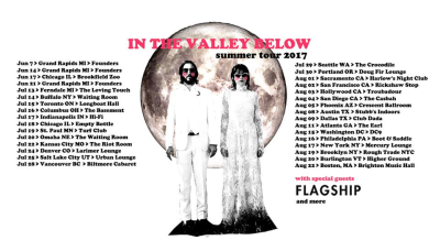 Tour Poster Flyer In the Valley Below 2017 Los Angeles Troubadour West Hollywood Flagship