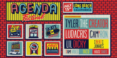 The Agenda Festival 2017 Los Angeles Long Beach Convention And Entertainment Center Long Beach Tyler The Creator Ludacris Cam Ron Lil Dicky