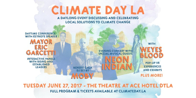 Climate Day L.A. Los Angeles Theatre at Ace Hotel DTLA Neon Indian Weyes Blood Moby