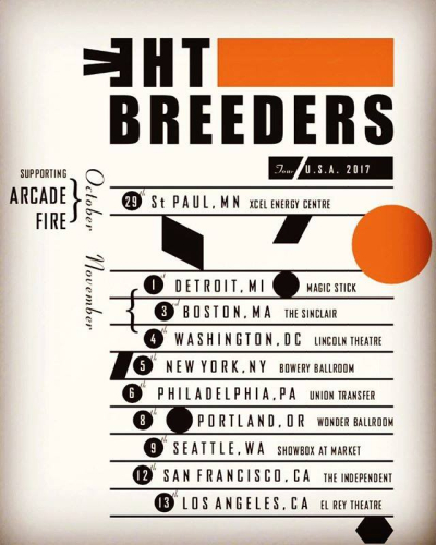 The Breeders U.S. Tour 2017