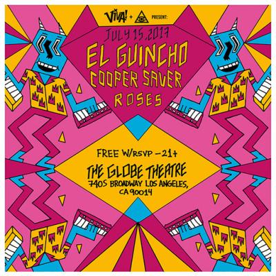 El Guincho Globe Theatre Los Angeles DTLA 2017 RSVP HiperAsia Cooper Saver Roses