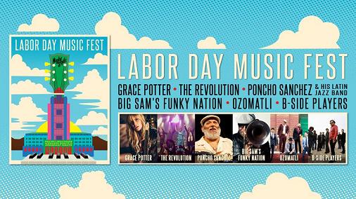 Night Shift 2017 Labor Day Music Fest Los Angeles Grand Park Downtown Grace Potter The Revolution Poncho Sanchez Ozomati B-Side Players