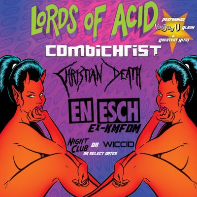 Lords of Acid Fonda Theatre Hollywood Los Angeles 2017 Observatory Santa Ana Orange County Combichrist Christian Death En Esch Night Club Contest