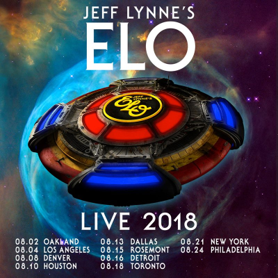 Jeff Lynne Electric Light Orchestra ELO 2018 Tour