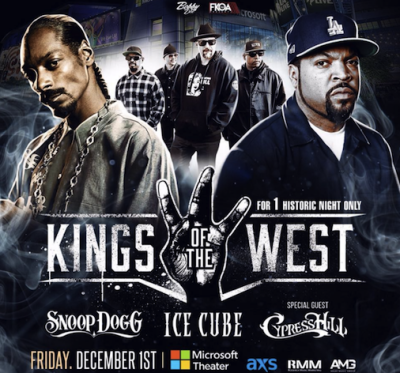 Kings of the West 2017 Los Angeles Microsoft Theater Downtown Snoop Dogg Ice Cube Cypress Hill