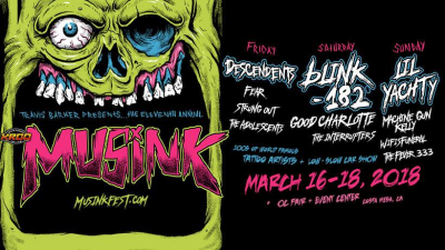 Musink Tattoo Convention Music Festival OC Fair and Event Center Costa Mesa Descendents Blink-182 Lil Yachty 2018