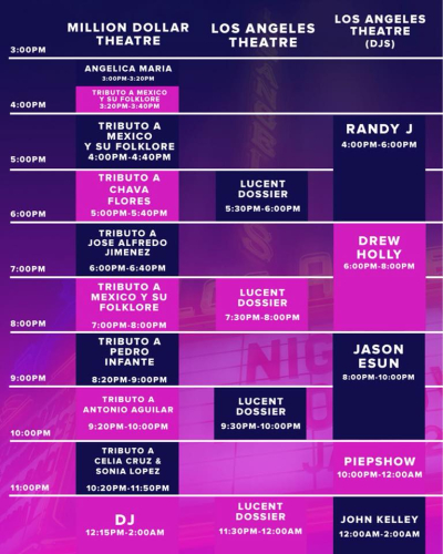 Night On Broadway 2018 Set Times Three Downtown Los Angeles
