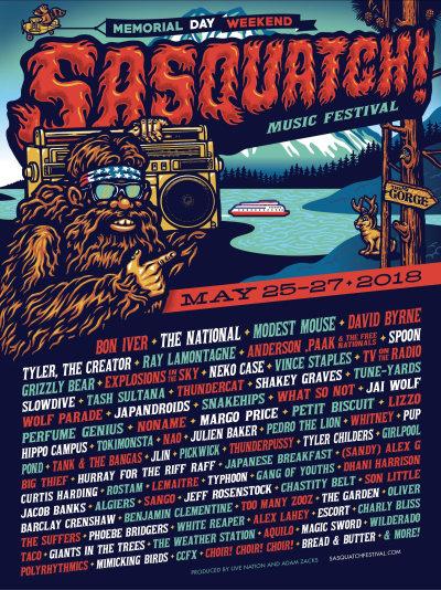 Sasquatch Music Festival 2018 Bon Iver The National Modest Mouse David Byrne Spoon TV on the Radio Gorge Amphitheatre George Washington