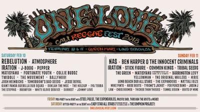 One Love Cali Reggae Fest 2018 Long Beach Queen Mary Los Angeles Music Festival Rebelution Atmosphere Pepper J Boog Iration Matisyahu