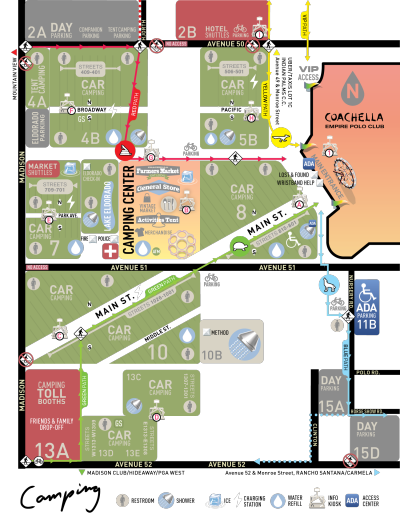 Coachella 2018 Music Festival Map Empire Polo Club Indio Camping