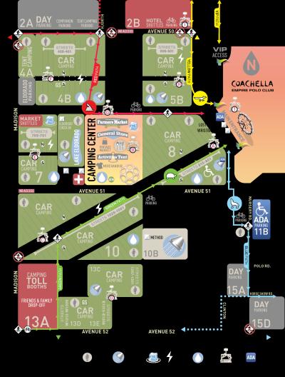 Coachella 2018 Music Festival Map Empire Polo Club Indio Camping