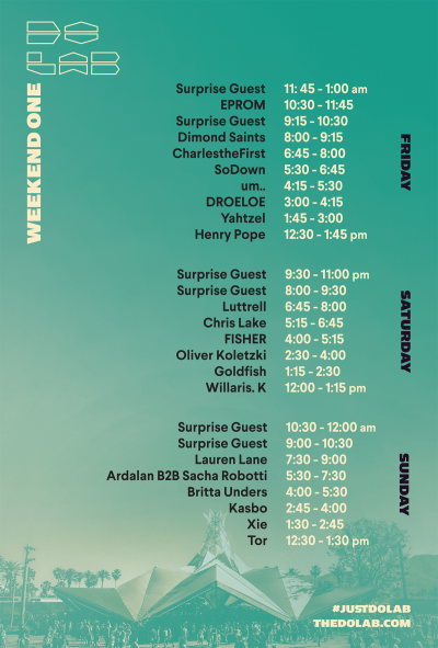 DoLab Coachella Set Times 2018 12th Planet Ghostface Killah Busta Rhymes