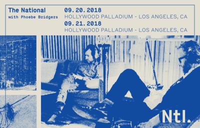 The National Hollywood Palladium Los Angeles 2018 Phoebe Bridgers Sleep Well Beast