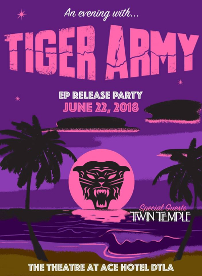 Tiger Army Theatre at Ace Hotel DTLA Los Angeles 2018 EP Release Show Twin Temple