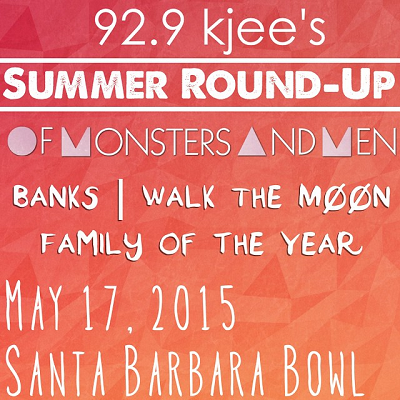 92.9 KJEE Summer Round-Up 2015 Santa Barbara Radio Music Festival