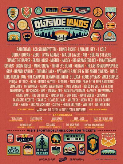 Poster-Outside-Lands-2016-Lineup-Announcement-Radiohead-LCD-Soundsystem-Lana-Del-Rey-J-Cole-Sufjan-Stevens-Duran-Duran-San-Francisco-Bay-Area-Music-Festival