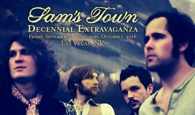 Sam's-Town-Decennial-Extravaganza-2016-The-Killers-Las-Vegas-Sam's-Town-Hotel-And-Gambling-Hall-Anniversary