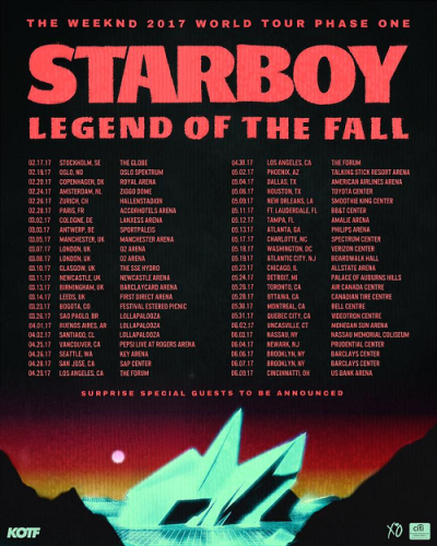 Poster-The-Weeknd-2017-Los-Angeles-Forum-Inglewood-Starboy-Legend-Of-The-Fall-World-Tour