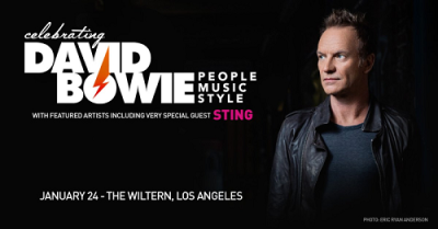 Sting 2017 Los Angeles The WIltern Koreatown Celebrating David Bowie Gaby Moreno Fishbone Bernard Fowler