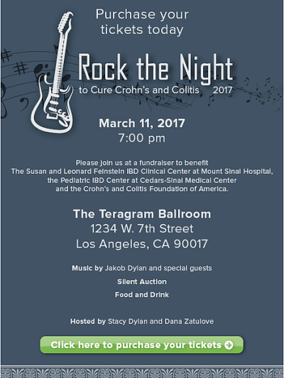 Rock the Night to Cure Crohn's and Colitis 2017 Teragram Ballroom