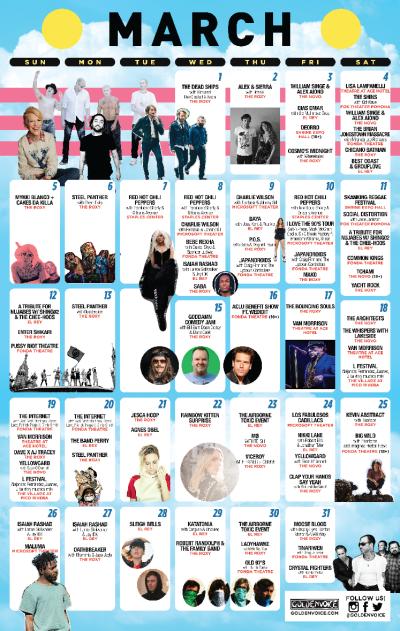 Goldenvoice Presents Calendar March 2017 Concerts Shows Events
