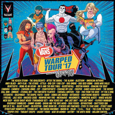 Vans Warped Tour Presented By Journeys 2017 Los Angeles Pomona Fairplex American Authors Gwar Hawthorne Heights Streetlight Manifesto
