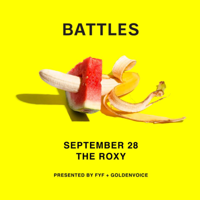 Battles Roxy Theatre Los Angeles West Hollywood 2017 Tour Poster