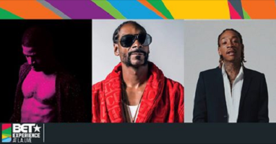Kid Cudi 2017 Los Angeles Staples Center Downtown LA Live BET Experience Snoop Dogg Wiz Khalifa Pusha T Desiigner Playboi Carti