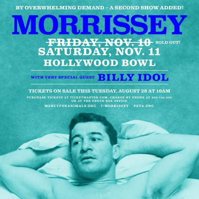 Poster Morrissey 2017 Los Angeles Hollywood Bowl The Smiths Low in High School Billy Idol Second Show