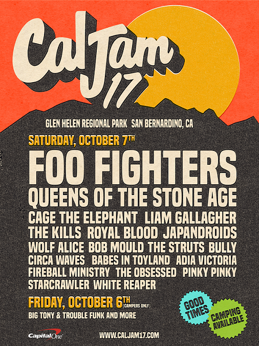 Cal Jam 17 2017 Glen Helen Regional Park Cage The Elephant Liam Gallagher Japandroids The Kills Queens Of The Stone Age Royal Blood The Struts Wolf Alice