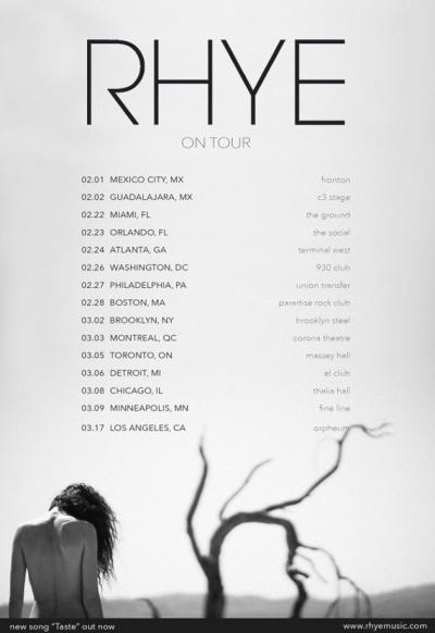 Rhye North American 2018 Tour