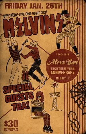 Melvins Alex's Bar Long Beach 2018 18-Year Anniversary