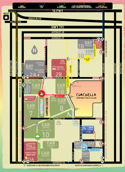 Coachella 2018 Music Festival Map Empire Polo Club Indio Layout