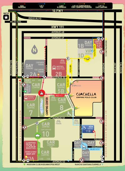 Coachella 2018 Music Festival Map Empire Polo Club Indio Layout