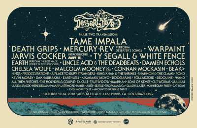 Desert Daze Music Festival 2018 Moreno Beach Lake Perris Tame Impala Ty Segall Warpaint Mercury Rev Chelsea Wolfe Preoccupations A Place to Bury Strangers Jarvis Cocker Hinds