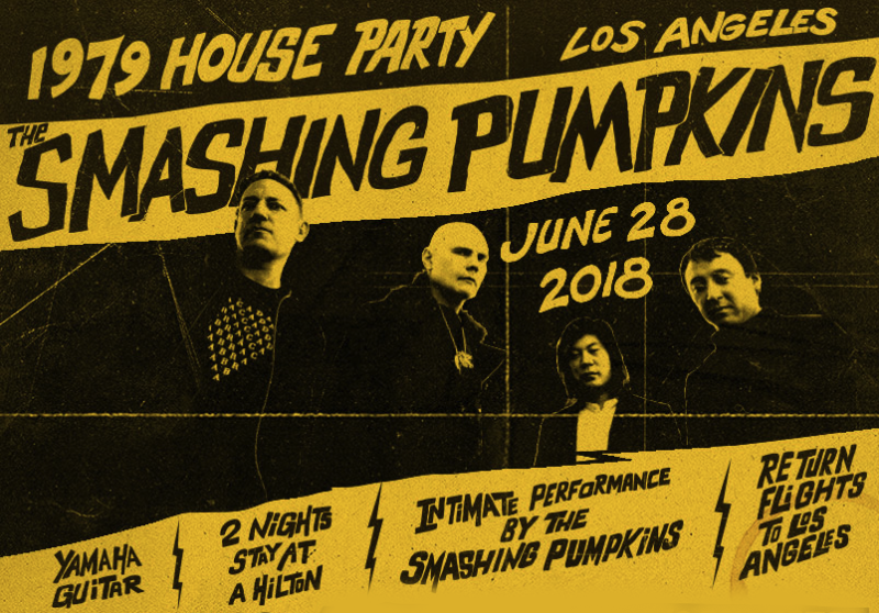 Smashing Pumpkins 2018 Los Angeles 1979 House Party Secret Show Studio City The Forum Inglewood Shiny and Oh So Bright