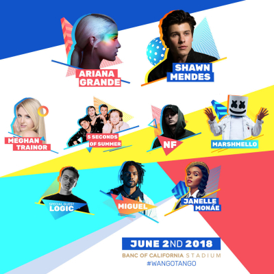 iHeartRadio KIIS FM Wango Tango Ariana Grande Logic Marshmello Shawn Mendes Miguel Janelle Monae Banc of California Stadium Los Angeles 2018