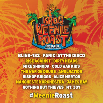 KROQ Weenie Roast 2018 StubHub Center Carson Blink-182 Panic! At the Disco Cold War Kids Los Angeles Radio Music Festival