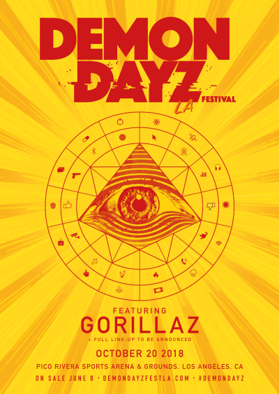 Demon Dayz Music Festival L.A. 2018 Los Angeles Pico Rivera Sports Arena And Grounds Gorillaz