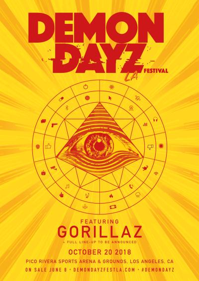 Demon Dayz Music Festival L.A. 2018 Los Angeles Pico Rivera Sports Arena And Grounds Gorillaz
