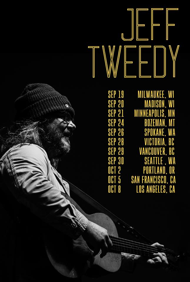 Jeff Tweedy Tour Poster 2018 Los Angeles Theatre At Ace Hotel Downtown Solo WIlco
