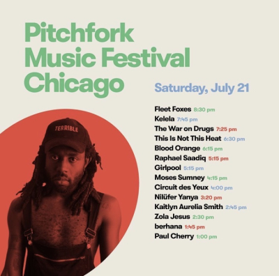 Pitchfork 2018 Saturday Set Times