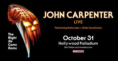 John Carpenter 2018 Los Angeles Hollywood Palladium Soundtrack Halloween