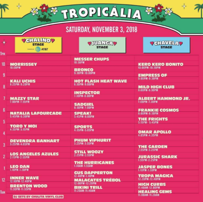 Tropicalia 2018 Set Times Long Beach The Queen Mary