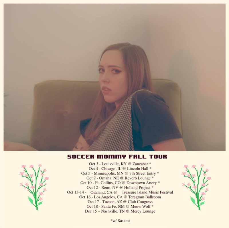 Soccer Mommy Tour Poster 2018 Clean Los Angeles Teragram Ballroom Downtown Sophie Allison