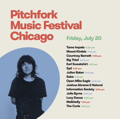 Pitchfork 2018 Friday Set Times