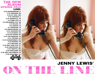 Tour Poster Jenny Lewis 2019 Los Angeles Hollywood Palladium On The Line