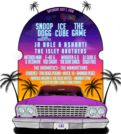 Summertime Long Beach 2018 Los Angeles The Queen Mary Music Festival Snoop Dogg Doggystyle Ice Cube The Game Ja Rule Ashanti The Isley Brothers Method Man Redman E-40