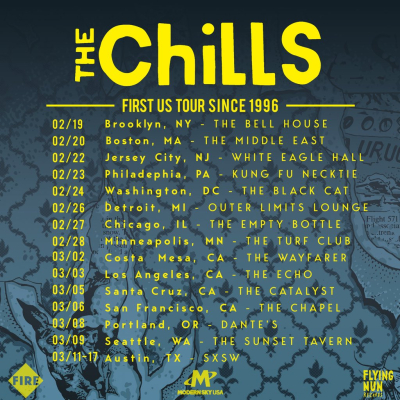 Tour Poster The Chills 2019 Los Angeles The Echo Echo Park The Wayfarer Costa Mesa Snow Bound